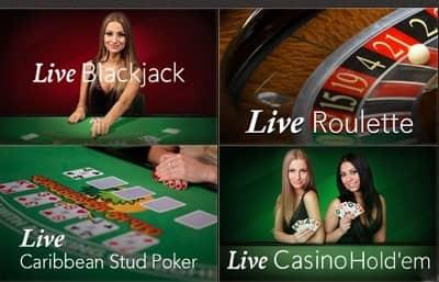 Spela casino bordsspel med riktig givare online