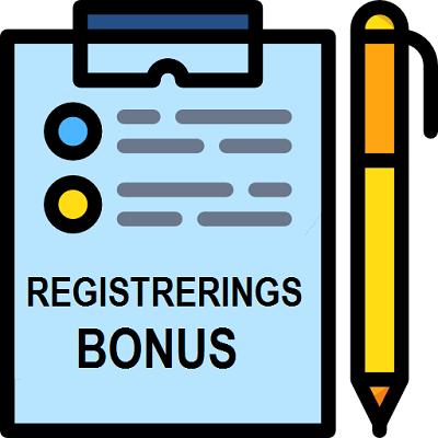 Registreringsbonus är den bästa bonusen