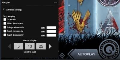 Autoplay på Viking Spelautomat