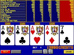 Videopoker på Online Casino